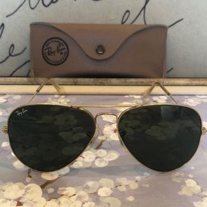 Vintage Bausch & Lomb Ray-Ban gold aviators